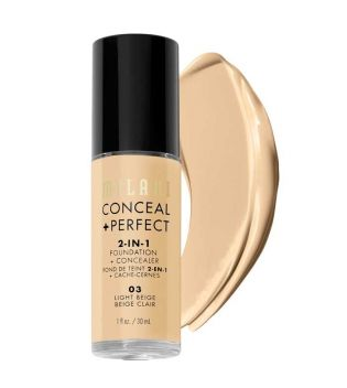 Milani - Base de maquillaje Conceal+Perfect 2-en-1 - 03: Light Beige