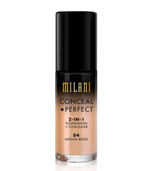 Milani - Base de maquillaje Conceal+Perfect 2-en-1 - 04: Medium Beige