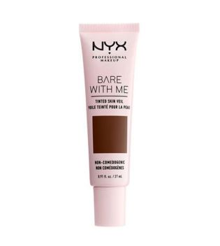 Nyx Professional Makeup - Base de maquillaje fluida Bare With Me - BWMSV12: Deep Espresso