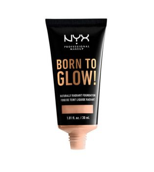 Nyx Professional Makeup - Base de maquillaje fluida Born to Glow! - BTGRF05: Light