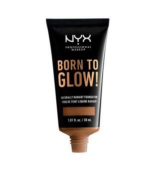 Nyx Professional Makeup - Base de maquillaje fluida Born to Glow! - BTGRF18: Deep Sable