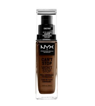 Nyx Professional Makeup - Base de maquillaje fluida Can't Stop won't Stop - CSWSF07: Chestnut