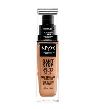 Nyx Professional Makeup - Base de maquillaje fluida Can't Stop won't Stop - CSWSF10.3: Neutral buff