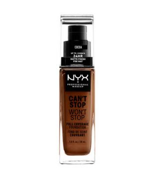 Nyx Professional Makeup - Base de maquillaje fluida Can't Stop won't Stop - CSWSF21: Cocoa