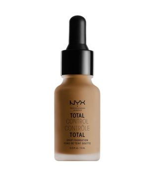 Nyx Professional Makeup - Base de maquillaje fluida Total Control Drop - TCDF18: Deep Sable