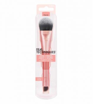 Real Techniques - Brocha para base y corrector Dual Ended Cover + Conceal