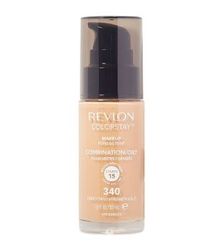 Revlon - Base de Maquillaje fluida ColorStay para piel Mixta/Grasa SPF15 - 340: Early Tan