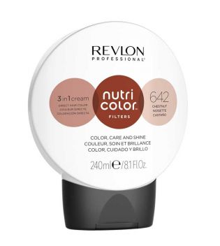 Revlon - Coloración Nutri Color Filters 3 en 1 Cream 240ml - 642: Castaño