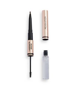 Revolution - Lápiz y gel para cejas Laminate Brow - Dark Brown