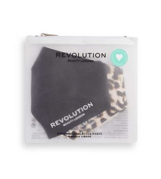Revolution - Pack de 2 mascarillas de tela reutilizables - Black