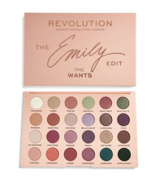 Revolution - Paleta de sombras The Emily Edit - The Wants