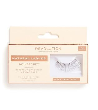 Revolution - Pestañas postizas Natural Lashes - Nº.1 Secret