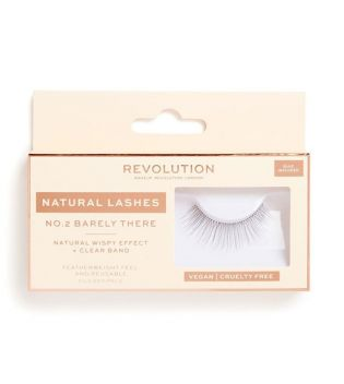 Revolution - Pestañas postizas Natural Lashes - Nº.2 Barely There