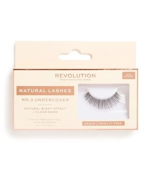 Revolution - Pestañas postizas Natural Lashes - Nº.3 Undercover