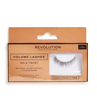 Revolution - Pestañas postizas Volume Lashes - Nº.8 Twist