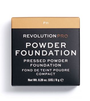 Revolution Pro - Base de maquillaje en polvo Pro Powder Foundation - F11