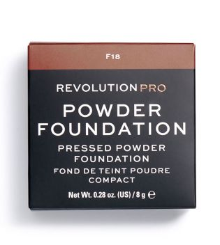 Revolution Pro - Base de maquillaje en polvo Pro Powder Foundation - F18