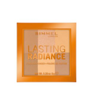 Rimmel London -  Polvos Compactos Lasting Radiance - 002: Honeycomb
