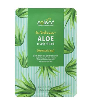 Soleaf - Mascarilla facial hidratante So Delicious - Aloe
