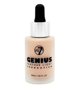 W7 - Base de maquillaje Genius Feather Light - Buff