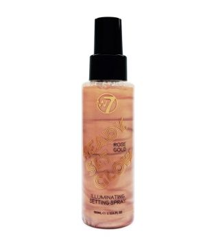 W7 - Spray fijador iluminador Ready Set Glow - Rose Gold