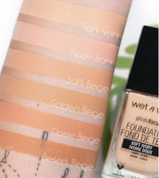 Wet N Wild - Base de maquillaje Photo Focus - E362C: Soft Ivory
