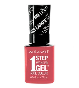 Wet N Wild - Esmalte de uñas 1 Step Wonder Gel - E7251: Coral Support