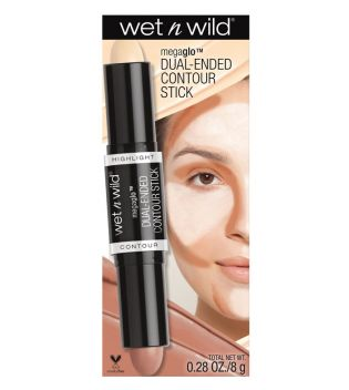 Wet N Wild - Stick Iluminador y contorno en crema MegaGlo - E7511: Light/Medium