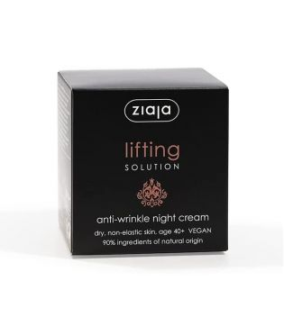 Ziaja - Crema de noche reductora de arrugas Lifting Solution